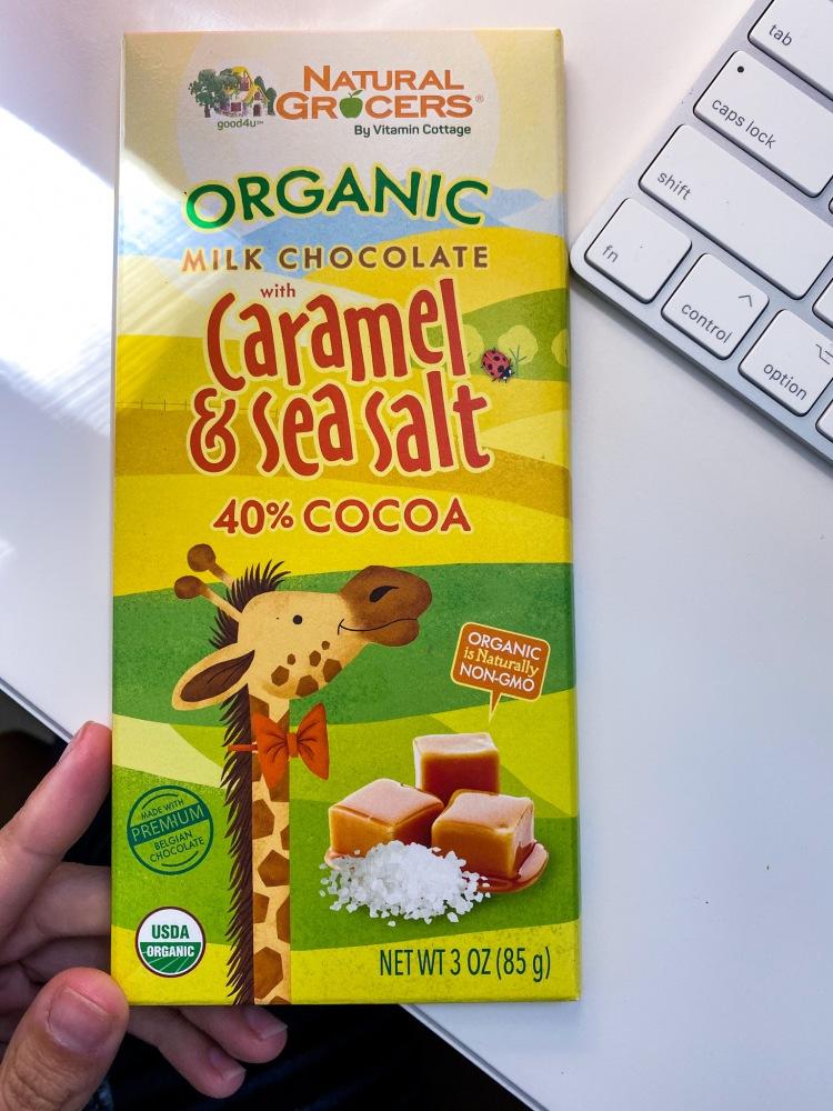 Organic Milk Chocolate Caramel and Sea Salt Bars Natural Grocers
