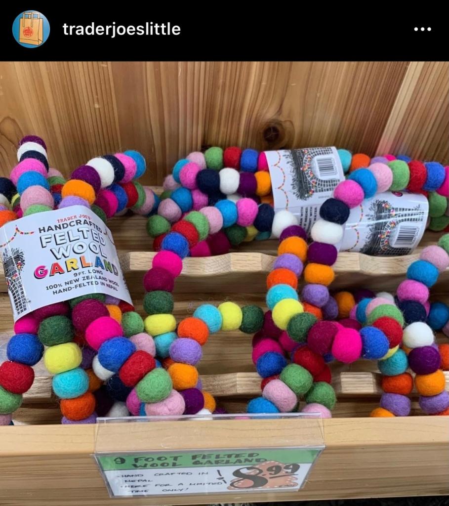 Trader Joe's Wool Garland