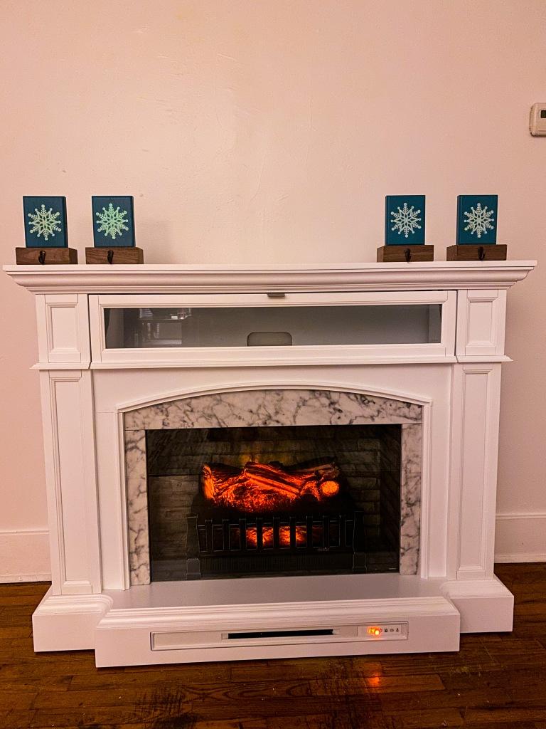 Lowe's Allen + Roth Faux Fireplace