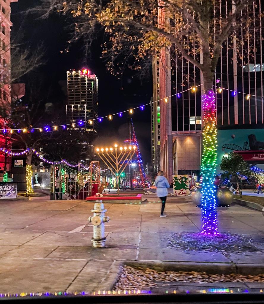Downtown Little Rock Light Display