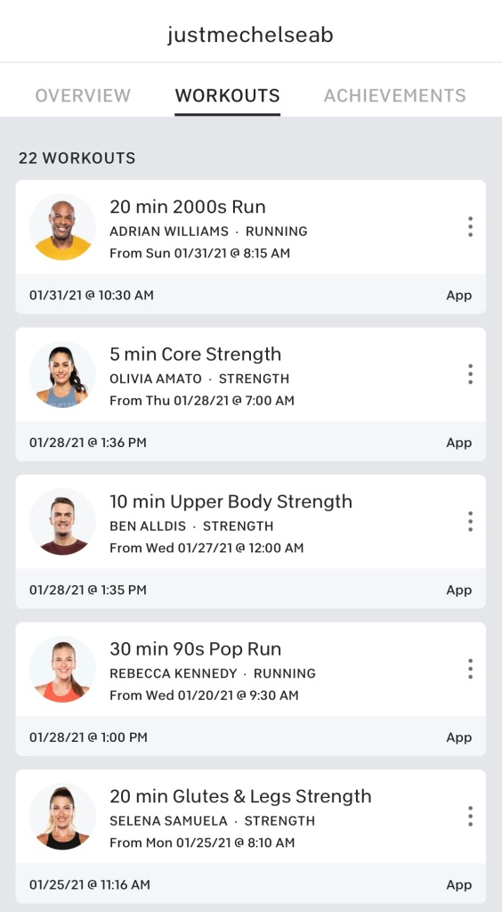 Peloton Workout App