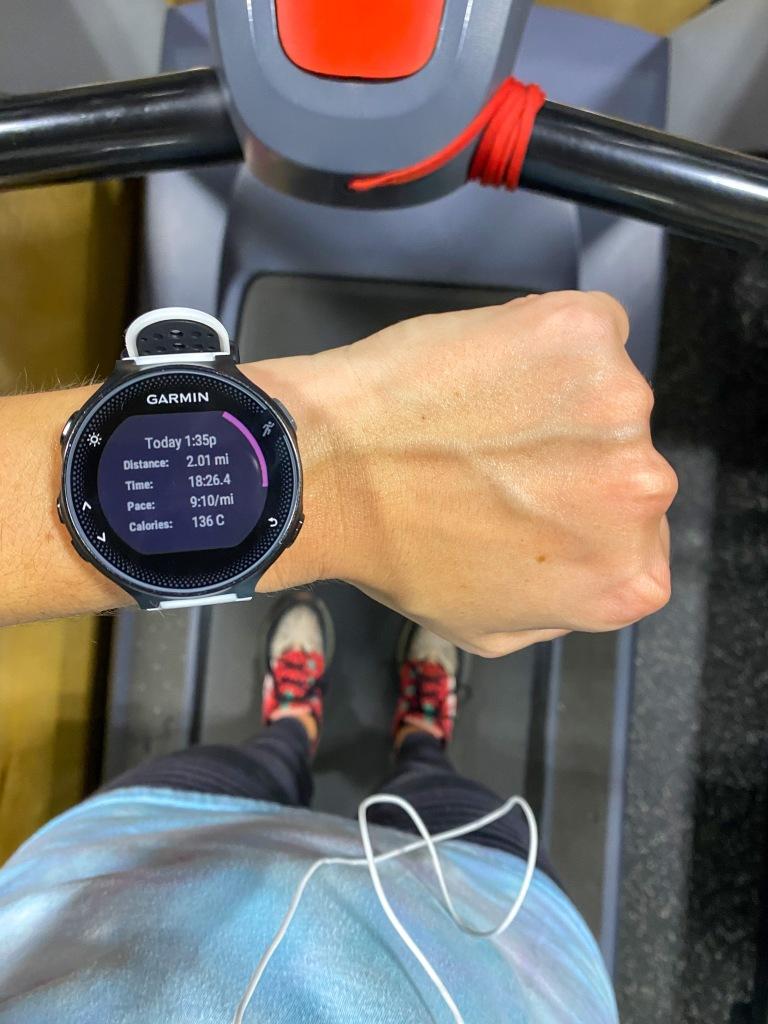 Treadmill Miles + Garmin Forerunner 235