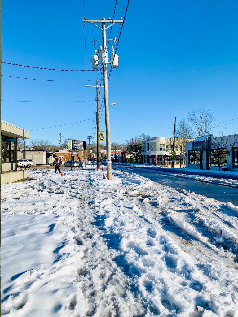 Snow Melt in Hillcrest, Little Rock Arkansas