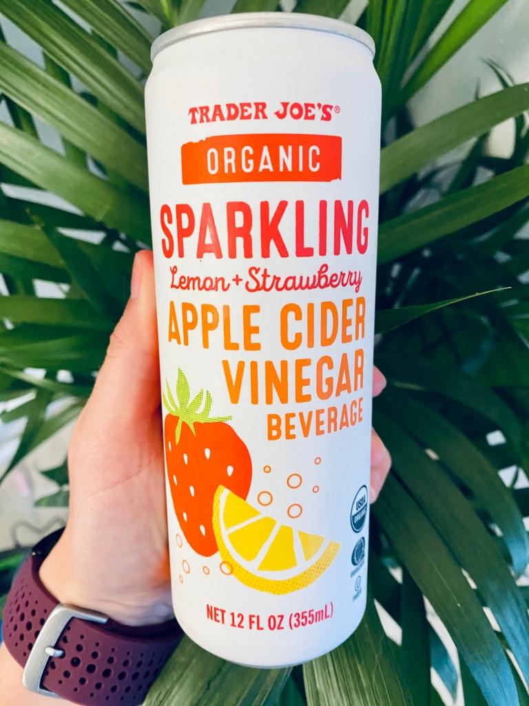 Trader Joe's Sparkling Apple Cider Vinegar Lemon Strawberry Drink Review