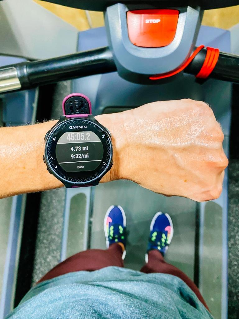 4 mile endurance run on the treadmill